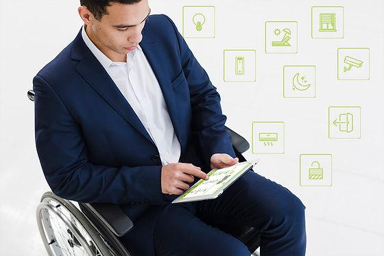 כיסא גלגלים ואפליקציה באייפד לאתר הייגול