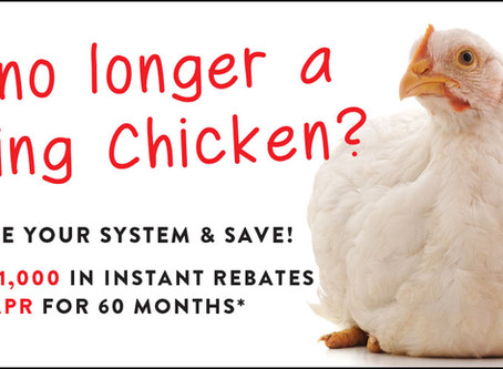 AC No Longer a Spring Chicken? We've got Savings for You!