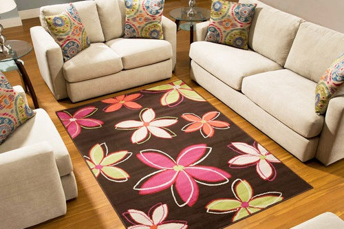 A nylon rug