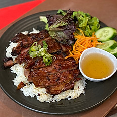 Grilled Pork with Rice & Salad