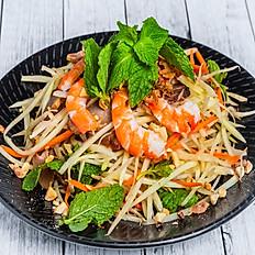 Pork & Prawn Green Pawpaw Salad