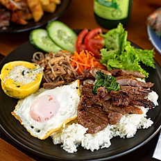 Grilled Pork Rice and Combination