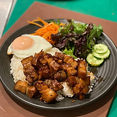 Caramelised Pork Belly With Rice