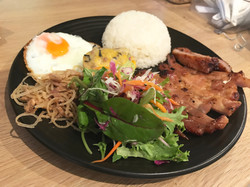 Grilled Pork Rice Combination