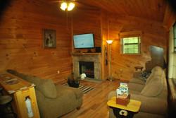"Fireplace & 50"" TV"