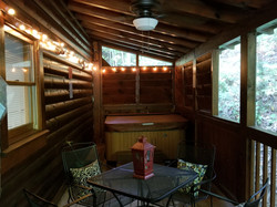 Hot Tub on Back Porch