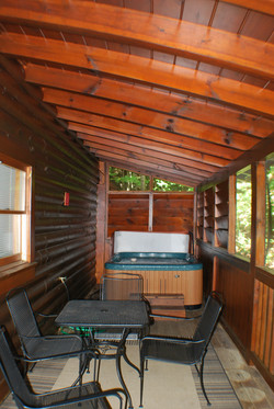 Back Porch & Hot Tub