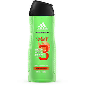 Adidas Active Start 3in1 Body Hair And Face Shower Gel For Him 400ml