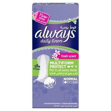 Always Liners Normal Scented 20's