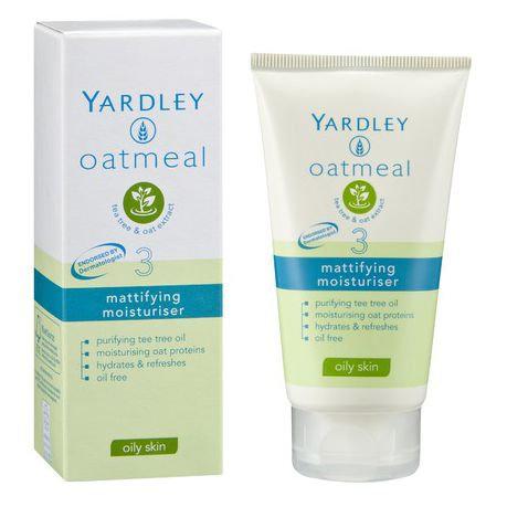 Yardley Oatmeal Mattifying Moisturiser Oily Skin 75ml