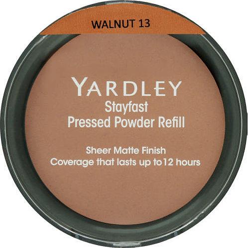 YARDLEY Stayfast Pressed Powder Refill WALNUT