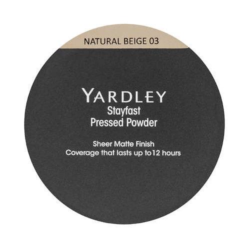 YARDLEY Stayfast Pressed Powder NATURAL BEIGE