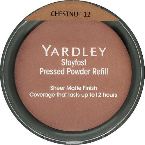 YARDLEY Stayfast Pressed Powder Refill CHESTNUT