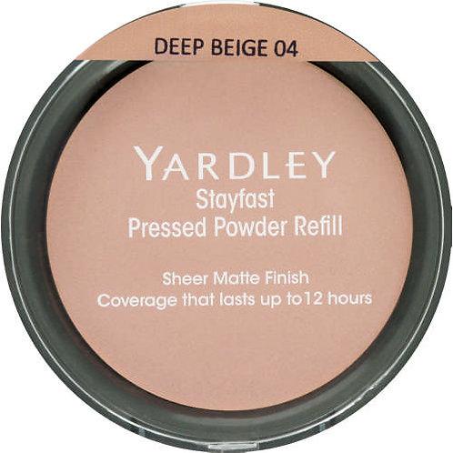 YARDLEY Stayfast Pressed Powder Refill  DEEP BEIGE