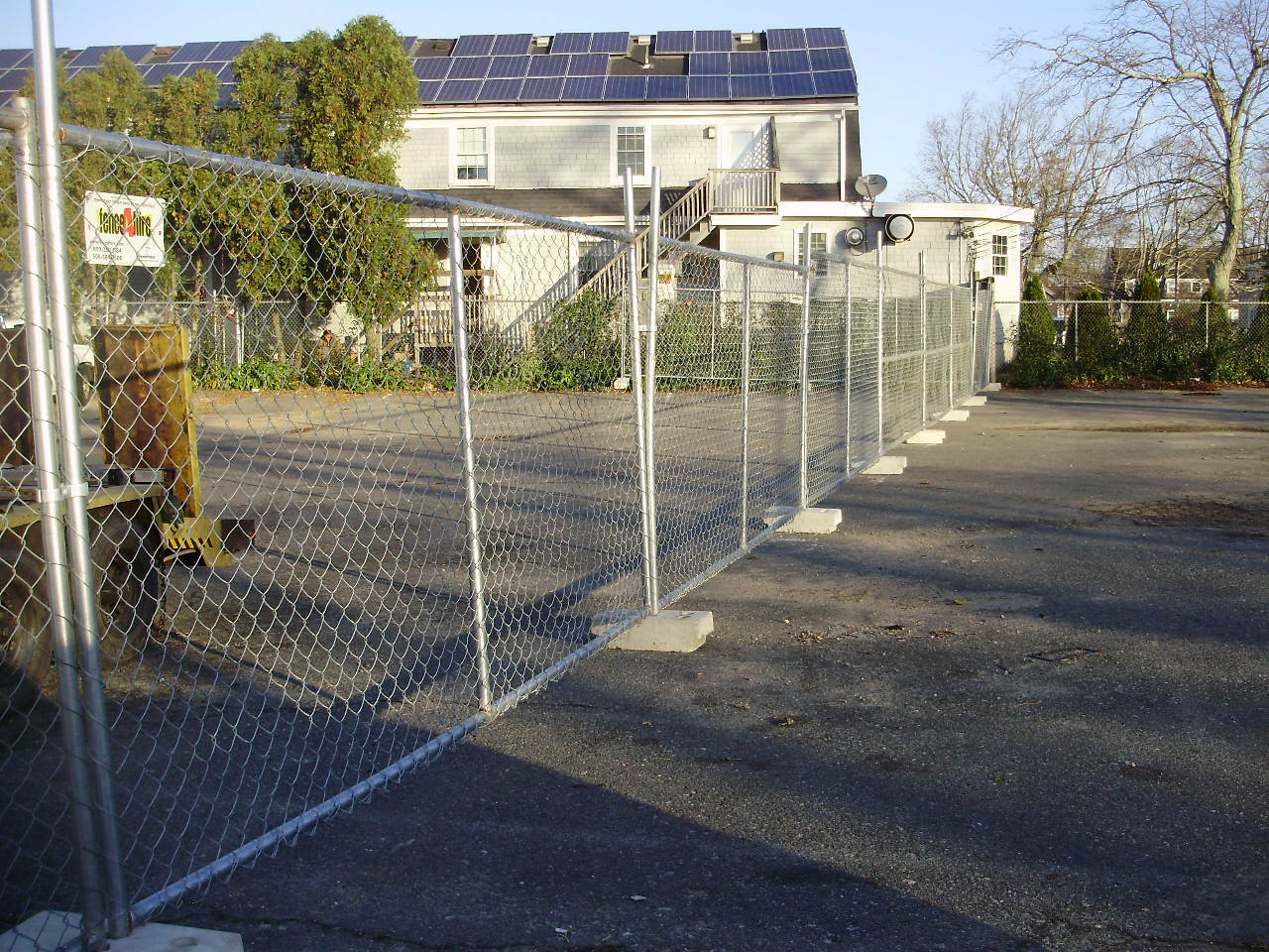Temporary Fence Panels with Block