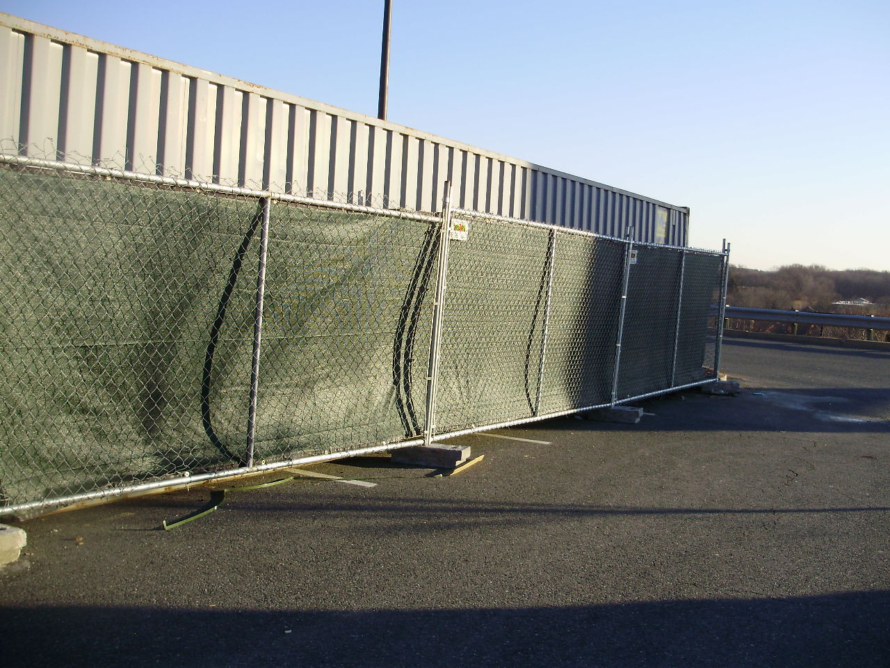 Temporary Fence Panels with Blocks