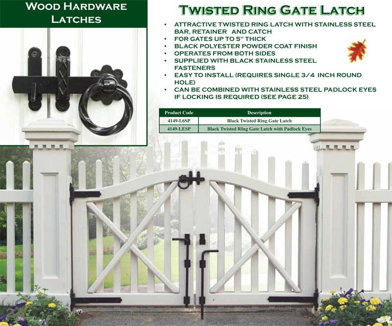 Twist Ring Gate Latch