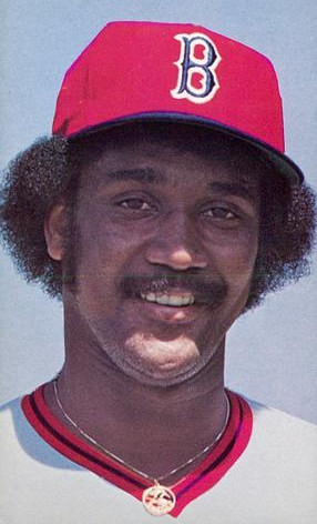 Jim Rice with the snazzy Red Sox hat from 1976. Public Domain.