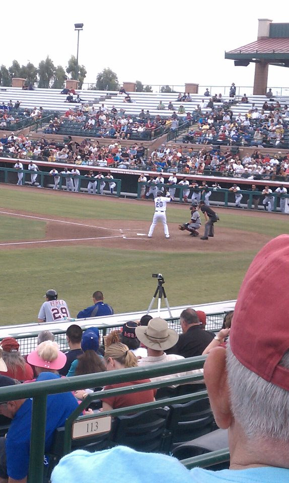 UConn's own Mike Olt in the AFL Championship game, Scottsdale, 2011.  Also of note, the organ player was the worst/drunkest I've ever heard in public.