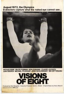 Visions of Eight Poster. A scene from the women of the games sequences that was treated like a pin up calendar. 1973.