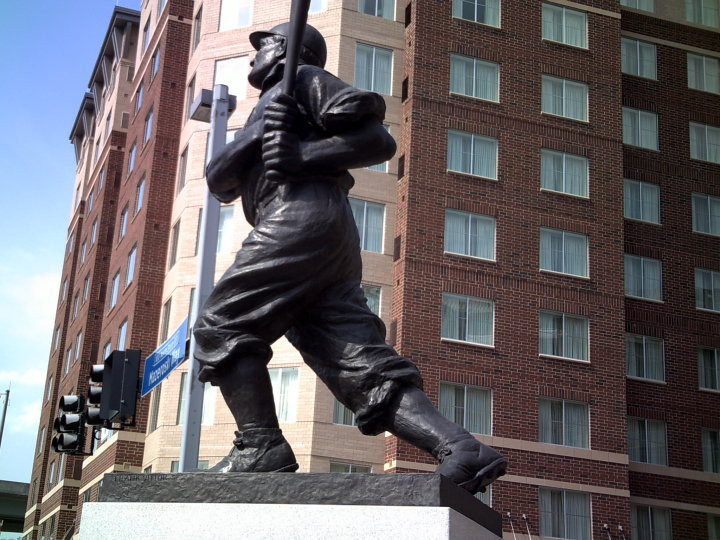 Honus Wagner Statue outside PNC Park.  Photo by PS Talbot, 2010.