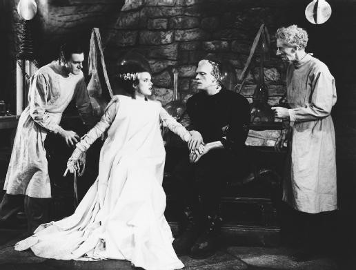Universal publicity photo from Bride of Frankenstein, 1935. Public Domain.