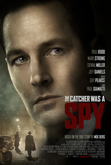 Paul Rudd in a movie that's not quite as terrible as its title. The Catcher Was a Spy movie poster, 2018.