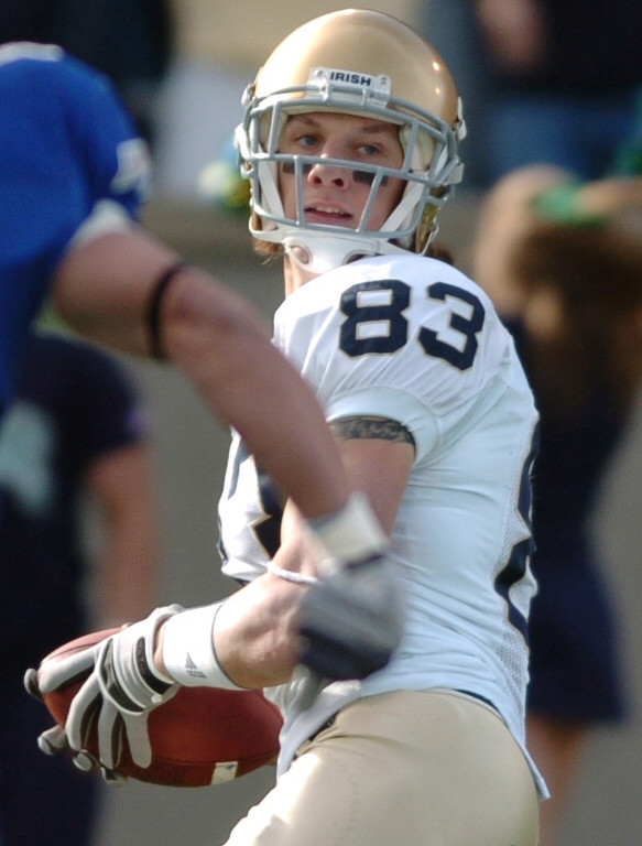Jeff Samardzija playing for the Fighting Irish in 2006. Public Domain.