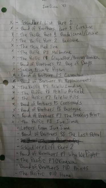 World War II movie list.