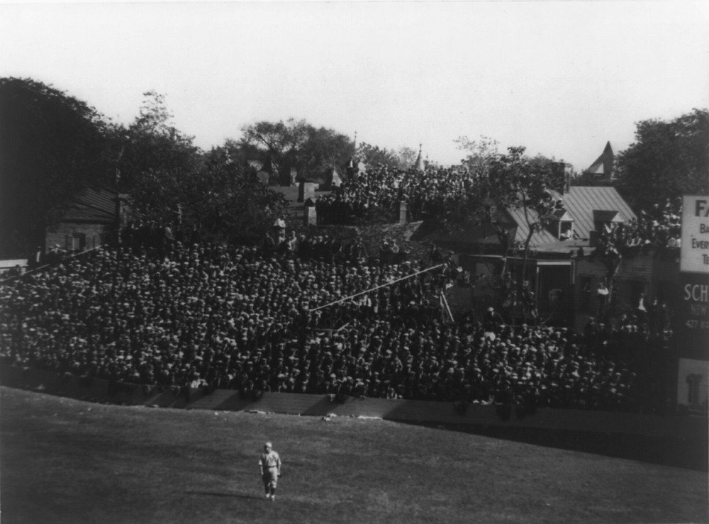 An early view of the right field seats at Griffith Park in Washington. Public Domain.