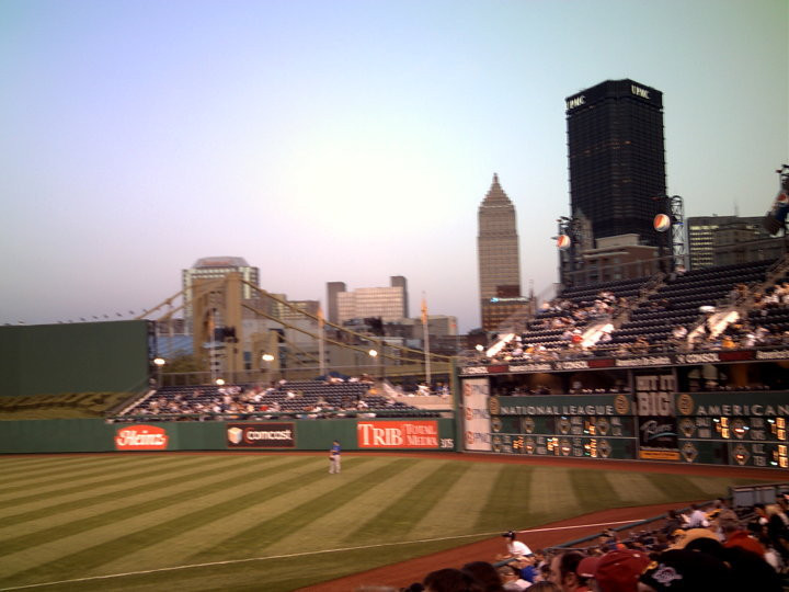 The Cubs take the field at PNC Park in 2010. Picture by PS Talbot.