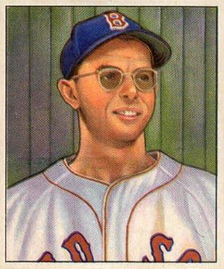 Dom DiMaggio 1950 Bowman Baseball Card. Public Domain.