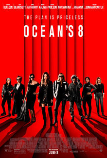 Now one time with just the ladies! Ocean's 8 poster, 2018.