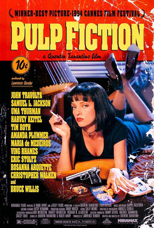 Pulp Fiction poster, 1994.