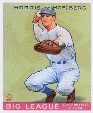 1933 Moe Berg baseball card. Public Domain.