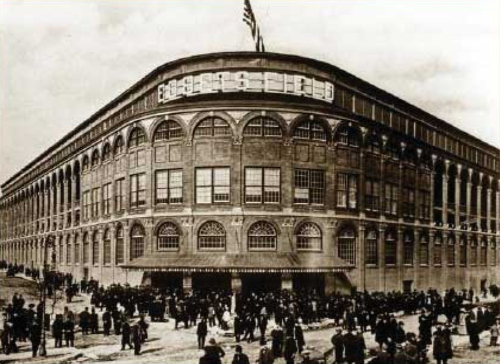 Opening day at Ebbets Field, 1913. Public Domain.