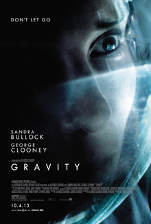 This poster could have used more negative space. Gravity, 2013.