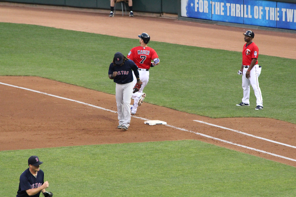 Hanley Ramirez manning first base.  Picture by D.Talbot