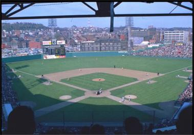 Crosley Field, 1970. Attribution to Ballparks of Baseball.