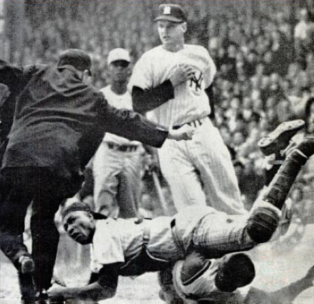 Elston Howard in the 1961 World Series. Public Domain.