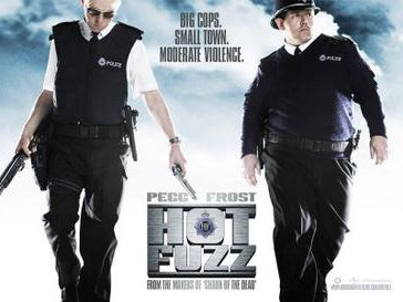 Hot Fuzz: Love the Fuzz, A Love Story. UK Poster, 2007.
