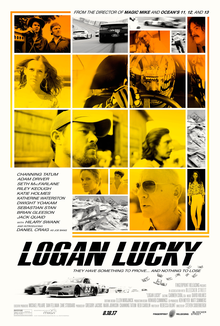 2017 was the year of Logan, Logan Lucky, Wonder, Wonder Wheel, Wonder Woman, Wonderstruck and Professor Marston and the Wonder Women. Logan Lucky poster, 2017.