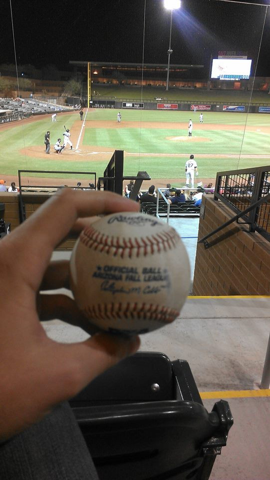 Nick Ahmed foul ball from Arizona Fall League.