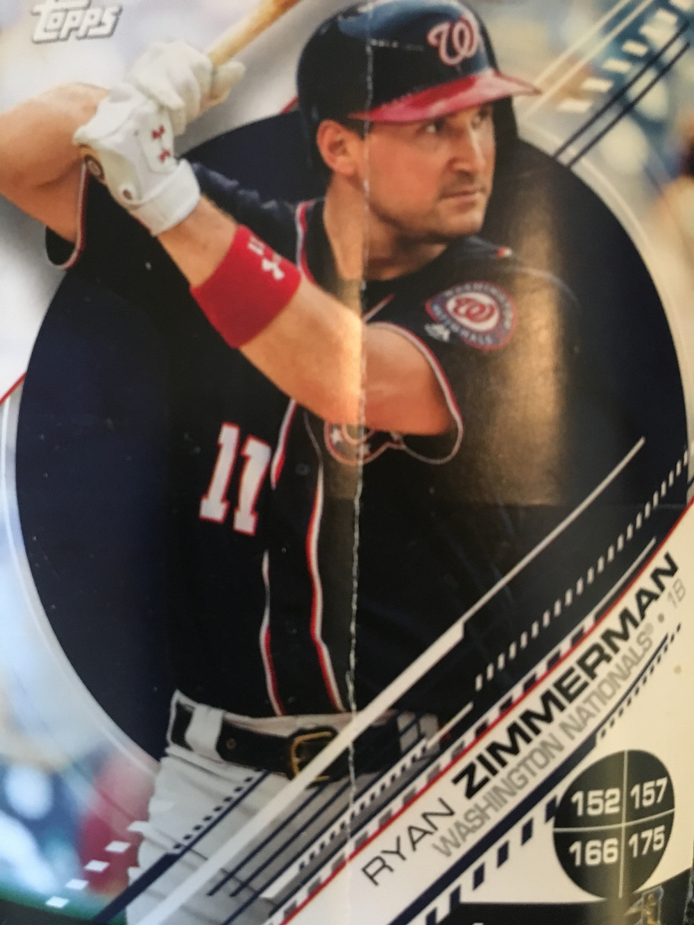 Ryan Zimmerman Topps sticker card, 2019.