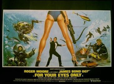 """Old Man Bond, you're trying to seduce me."" For Your Eyes Only poster, 1981."