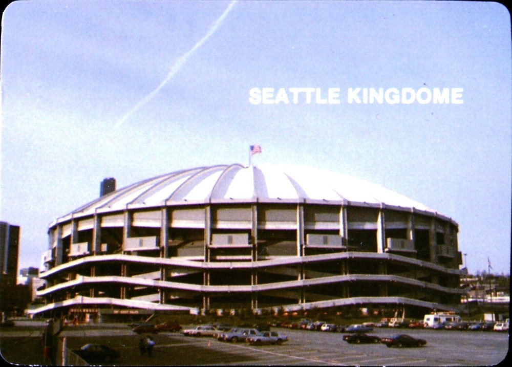 Seattle Kingdome, Mother's Cookies, 1985. Public Domain.