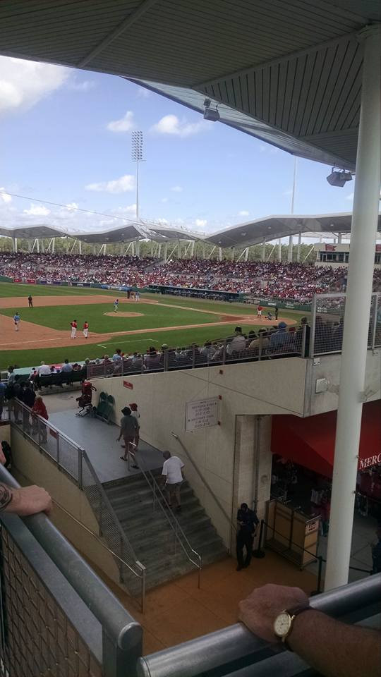A view of Spring Training at Jet Blue Park, 2017.  I know it's not AL West related, get off me, I'm starving!  Picture by PS Talbot.