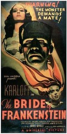 Damn that's a beautiful poster. No joke. Bride of Frankenstein, 1935.