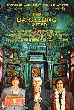 Three brothers and their deadly snake. Darjeeling Limited Poster, 2007.