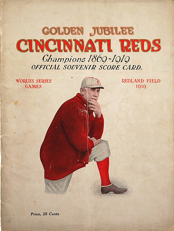 1919 World Series score card. Public Domain.